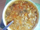 Mačkaná květáková polévka s houbami recept