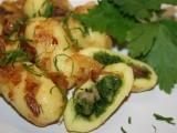 Bramborové šišky plněné špenátem recept