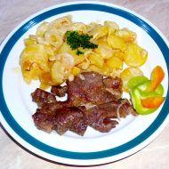 Zapečená vepřová krkovice s bramborami a šlehačkou recept ...