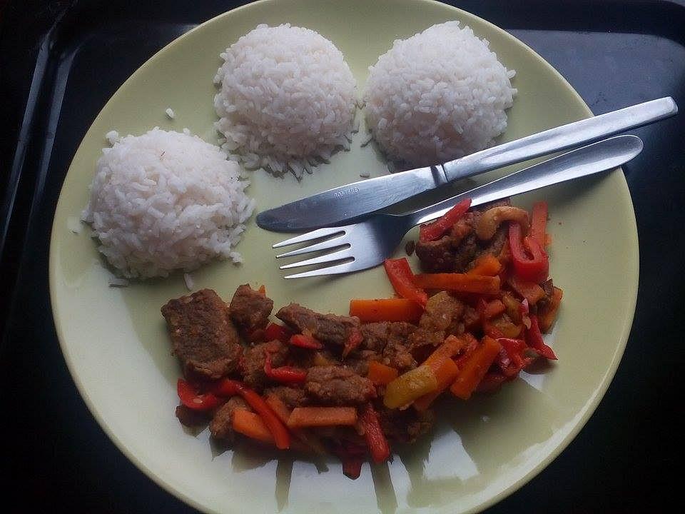 Kančí/vepřové maso se zeleninou recept