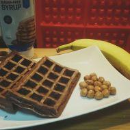 Fitness wafle s čokoládou recept