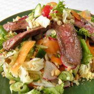 Pestrý salát s hovězím masem recept