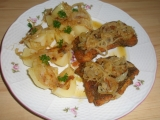 Mořská štika s máslovou cibulí recept