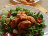Kuřecí tempura se zeleninovým salátem recept