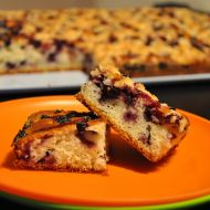 Borůvkový koláč na velký plech recept