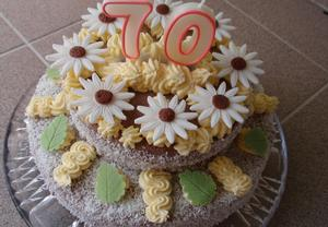 Piškotový korpus  dvoupatrový dort