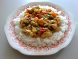 Zeleninová pánev s kuřecími prsíčky recept