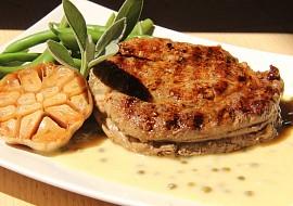 Rib eye steak s omáčkou z pečeného česneku ( medium  medium ...