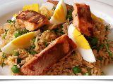 Rýžový salát s lososem recept