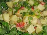 Bramborový salát s pečenými paprikami recept