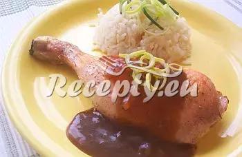 Kuře se švestkovou omáčkou recept  recepty pro děti