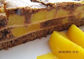 Broskvovo  čokoládový koláč recept