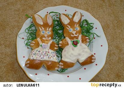 Velikonoční zajíčci  slavnostně nazdobení recept