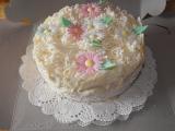 Svatební dort s květinami recept