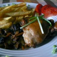 Kuře na houbách s mrkví recept
