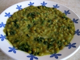 Čočkové kari se špenátem recept