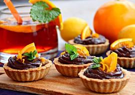 Tartaletky s čokoládovým orange curd krémem recept