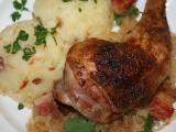 Pečené kuře se zelím recept