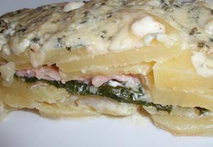 Gratinované brambory (nejen) se špenátem