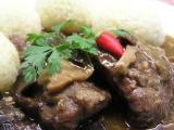 Pikantní líčka na houbách recept