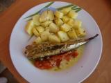 Makrela se zeleninou na grilu recept