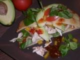 Palačinkové placky s kuřecím masem a avokádem recept ...