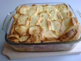 Žemlovka s jablky a tvarohem recept