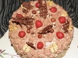 Dort s čokoládovým krémem a ovocem recept