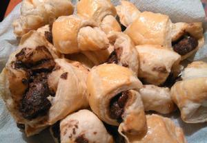 Čokoládové croissanty z listového těsta