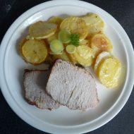 Vepřová pečeně s gratinovanými brambory recept