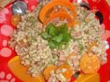 Pohanka s mrkví, celerem a šunkou recept