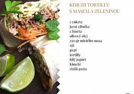 Kimchi tortilly s masem a zeleninou recept
