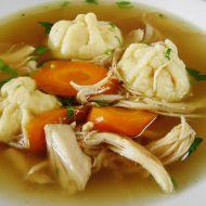 Kuřecí polévka s plněnými knedlíčky recept