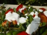 Fazolkový salát s rajčaty a šruchou recept
