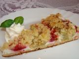 Kynutý nekynutý rebarborový koláč recept