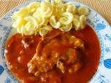 Krkovička v rajčatovo-houbové omáčce recept