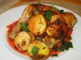 Kuře pečené na mrkvovo-řepném a zelném polštáři recept ...