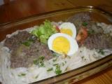 Rýžové těstoviny s masem recept