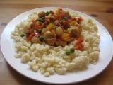 Špecle se zeleninkou a kuřecím masem recept