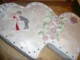 Svatební dvousrdíčkový dort recept