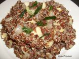 Zázvorová červená quinoa s mandlemi recept