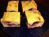 Dvakrát tvarohový švestkový koláč recept