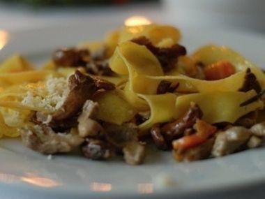Pappardelle s kachním ragú a houbami