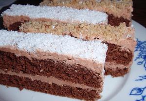 Kakaové řezy s krémem