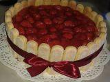 Jahodový dort s cukrářskými piškoty recept