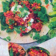 Tortilly plněné mexickou směsí recept