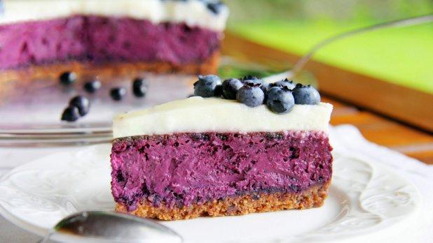 Dánský borůvkový cheesecake – Blåbær Ostekage