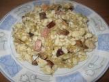 Špecle s houbami, zelím a slaninkou recept