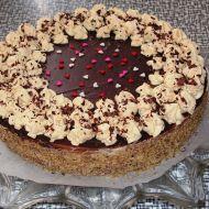 Ořechový dort s karamelovým krémem recept