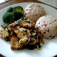 Tempeh s pórkem a rýží recept
